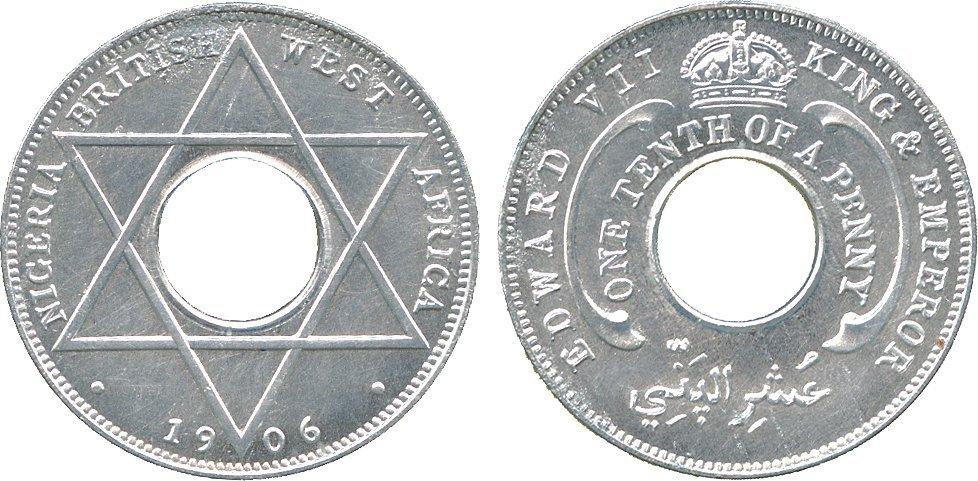 AFRICA. British West AFRICA. Aluminium Pattern 1/10-Pe