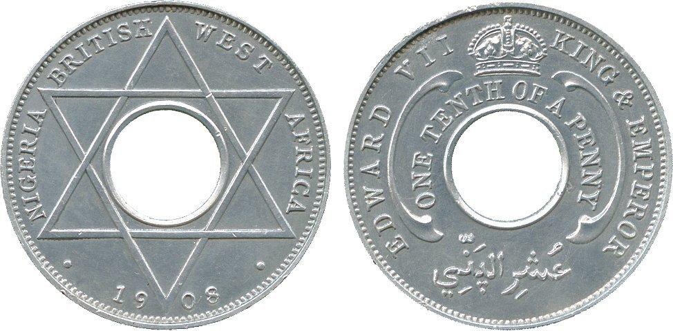 AFRICA. British West AFRICA. Aluminium Matte Proof 1/1