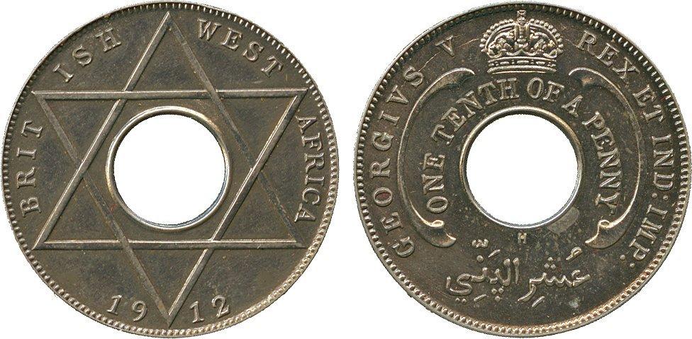 AFRICA. British West AFRICA. Cupro-nickel Specimen 1/1