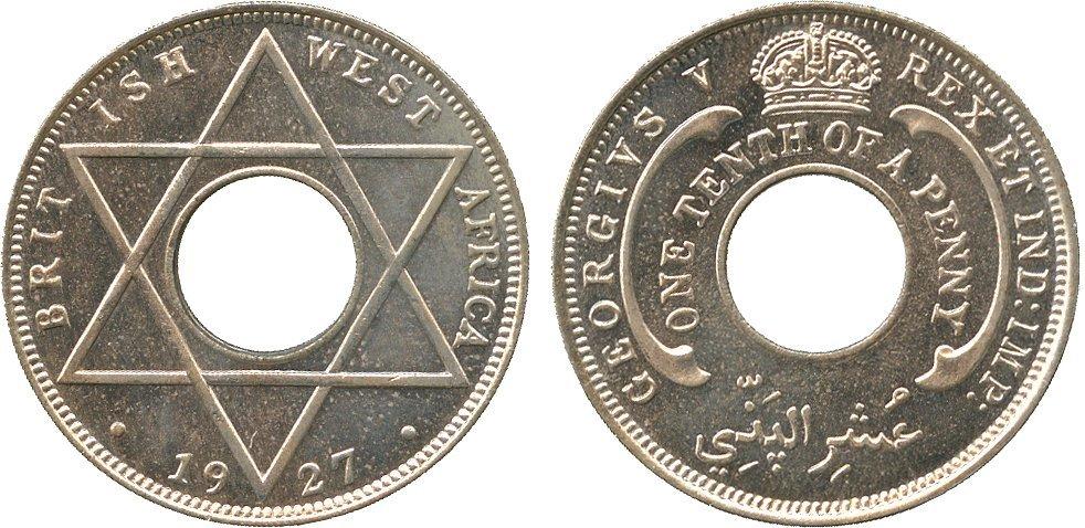 AFRICA. British West AFRICA. Cupro-nickel Specimen/Pro
