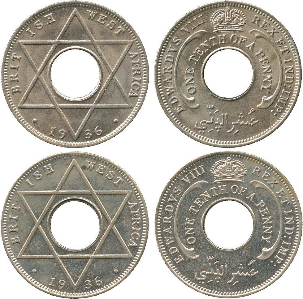 AFRICA. British West AFRICA. Edward VIII, Cupro-nickel
