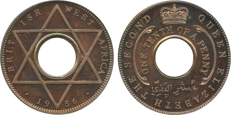 AFRICA. British West AFRICA. George VI, Cupro-nickel P