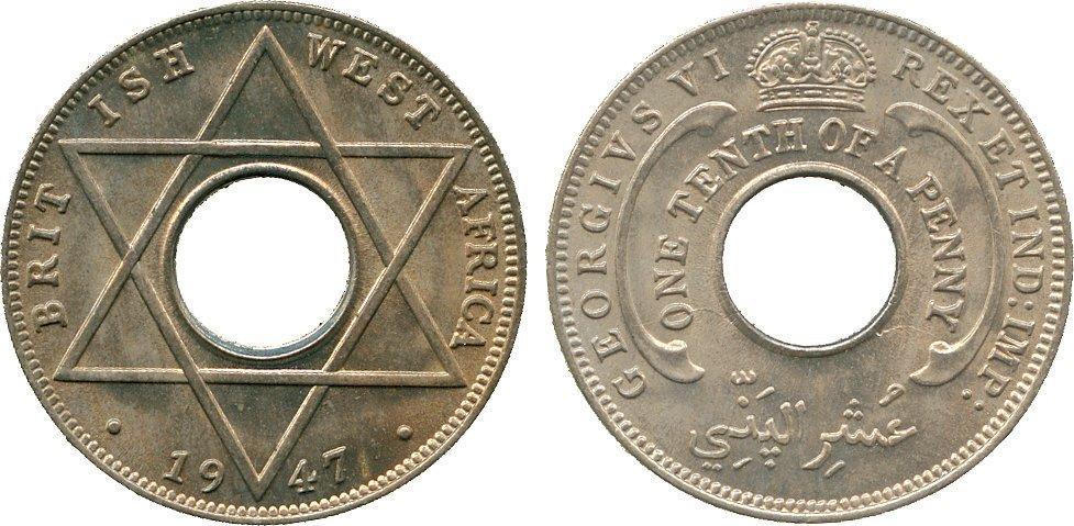 AFRICA. British West AFRICA. George VI, Cupro-nickel 1