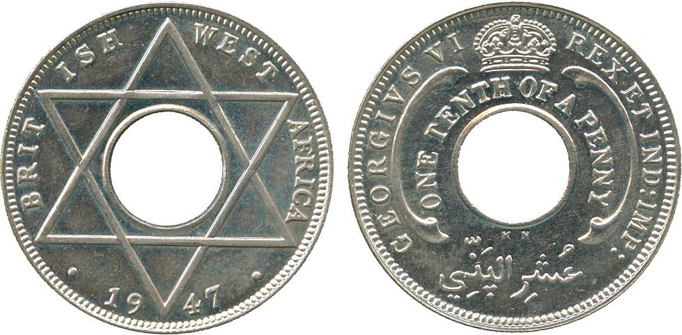 AFRICA. British West AFRICA. George VI, Cupro-nickel S