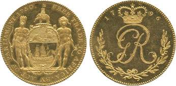 AFRICA. Gold Coast. Copper-gilt Pattern/Proof Ackey, 1