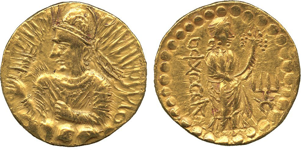 Coins of India. Kushan. Huvishka (c.150-190 AD), Gold