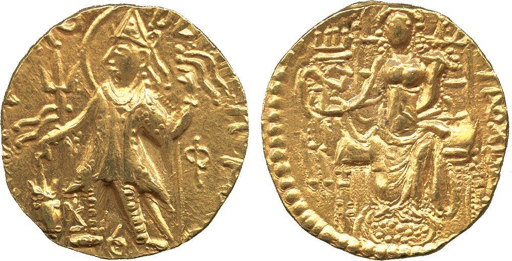 Coins of India. Kushan. Kanishka II (c.230-250 AD), Go