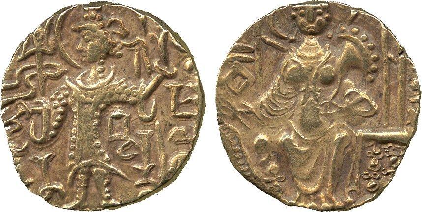 Coins of India. Kushan. Kipanada (c.330-360 AD), Gold