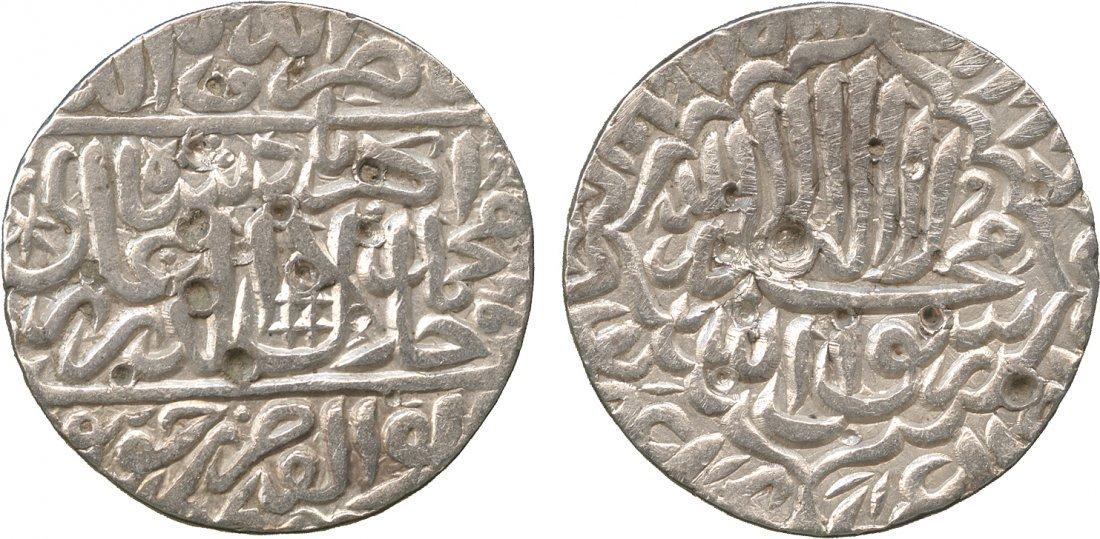 Coins of India. Mughal. Akbar, Dehli, Silver Round Rup