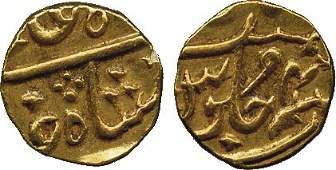 Coins of India East India Company Gold 115MohurRu