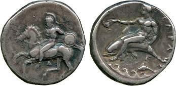 ANCIENT COINS Greek Calabria Tarentum c355340