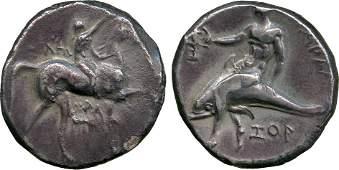 ANCIENT COINS Greek Calabria Tarentum c302280