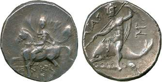 ANCIENT COINS Greek Calabria Tarentum c240228
