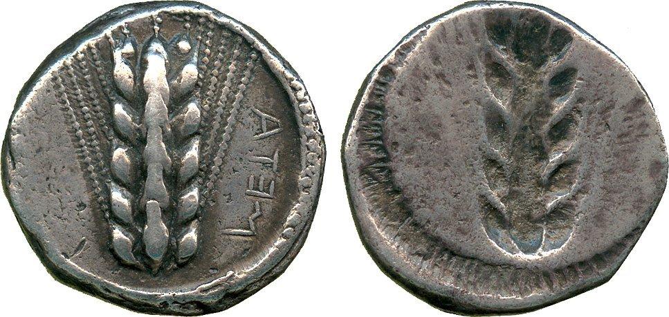 ANCIENT COINS. Greek. Lucania, Metapontum (c.470-440