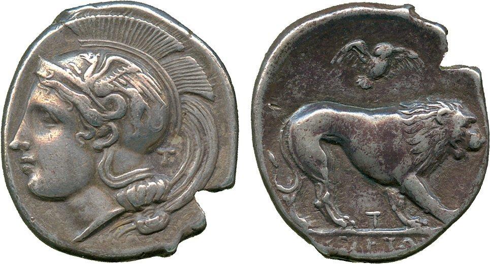 ANCIENT COINS. Greek. Lucania, Velia (c.400-340 BC),