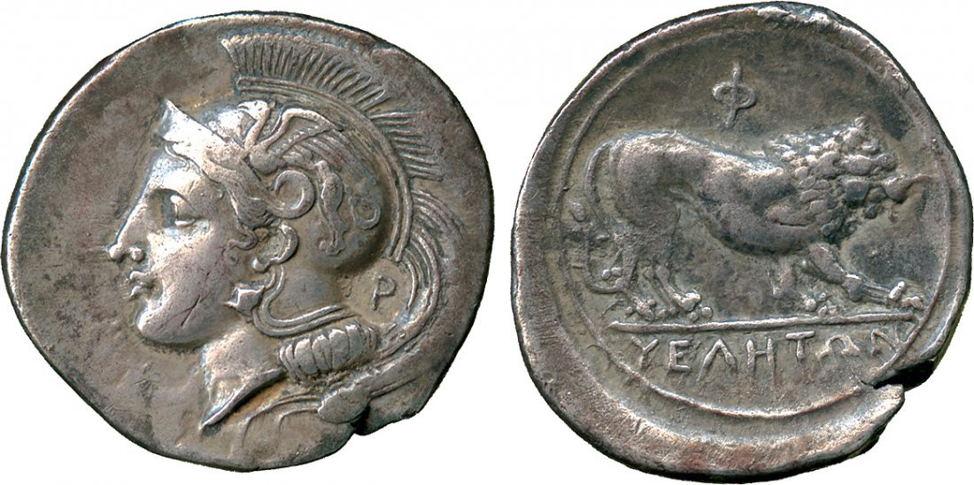 ANCIENT COINS. Greek. Lucania, Velia (c.340-334 BC),