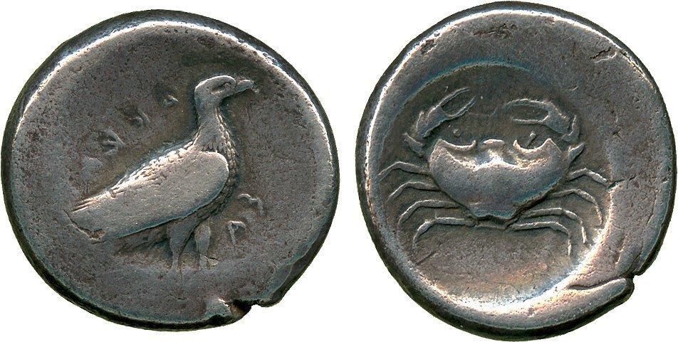 ANCIENT COINS. Greek. Sicily, Akragas (c.495-480 BC),