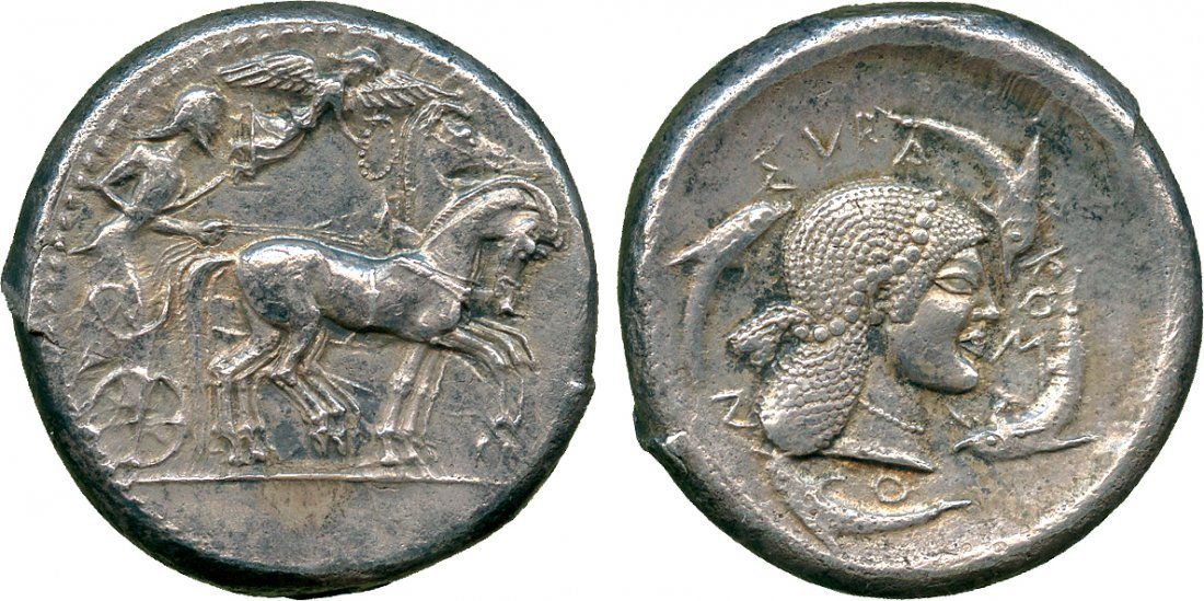 ANCIENT COINS. Greek. Sicily, Syracuse (Deinomenid