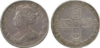 BRITISH COINS Anne Silver Vigo Shilling 1703