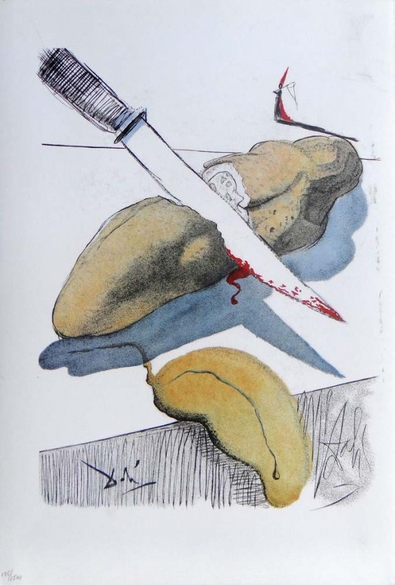 "Salvador Dali- ""Cut Cucumber"""