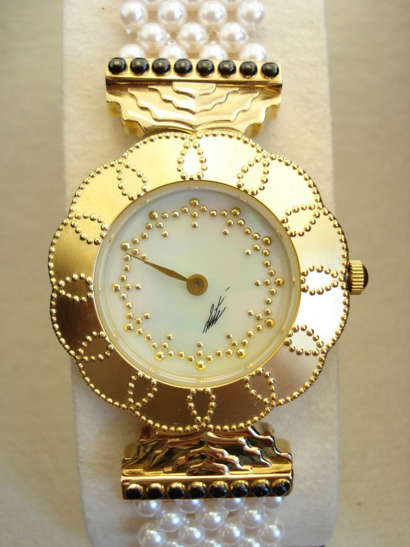 Mother of Pearl Erte Watch.