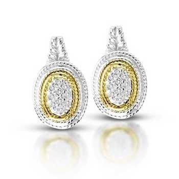 DIAMOND SILVER EARRINGS