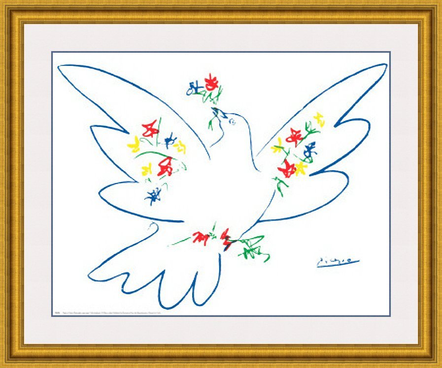 Dove with Flowers by Pablo Picasso