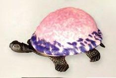 Beautiful Pink & Purple Turtle Lamp
