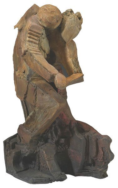Handsigned Bronze Sabzi Dancers Sculpture