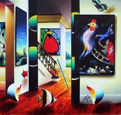 Original Oil On Canvas by Ferjo