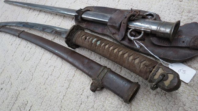 A British sword scabbard, dates from late 1900's, with