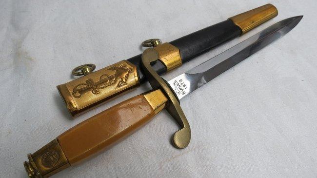 A Russian navy officer's dagger, blade length 20cm.