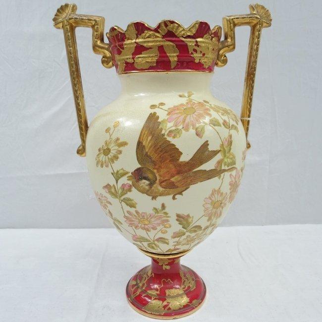 Large English earthenware mantel vase of 19thC. Registr