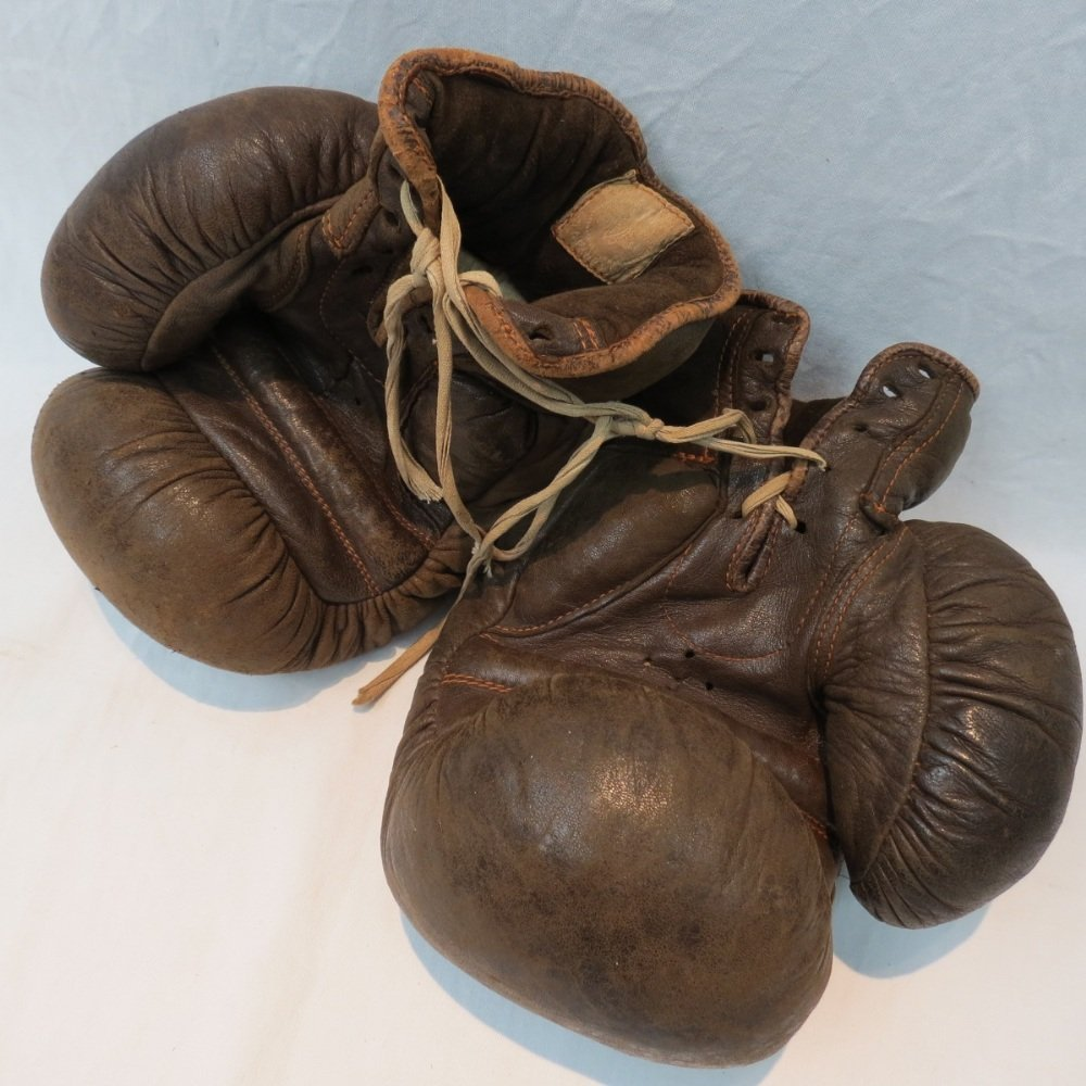 A vintage pair of boxing gloves by Bryan