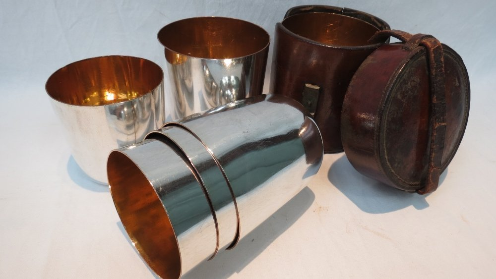 A set of six early 20thC silver plated t