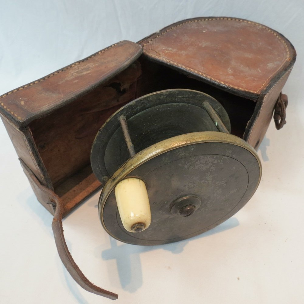 A Charles Farlow 41/4'' fly reel, with i