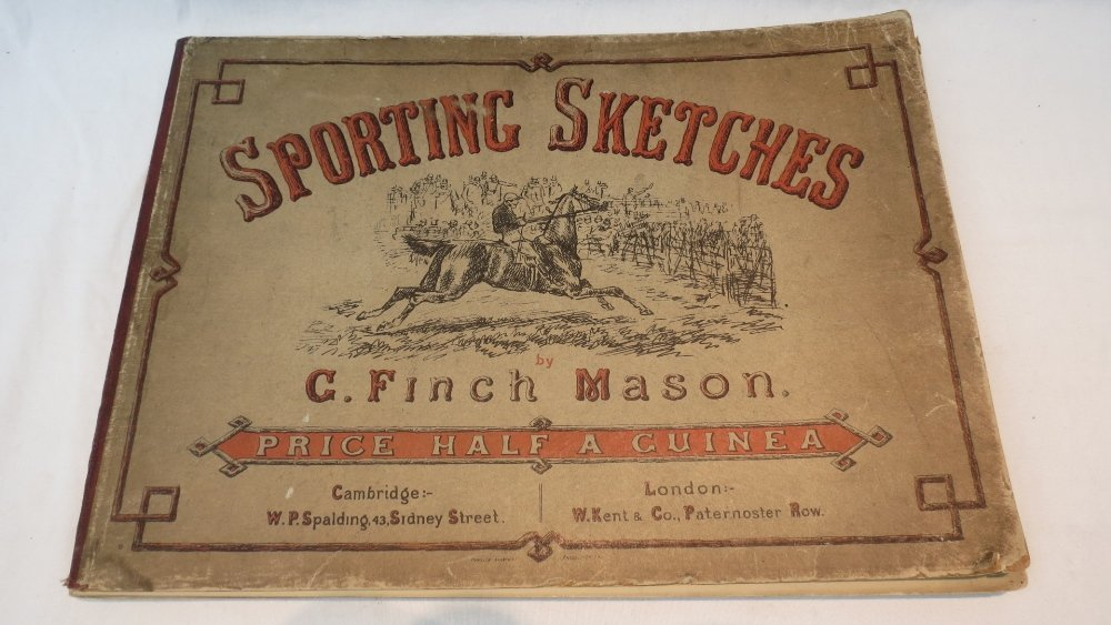 A bound volume of sporting sketches by C