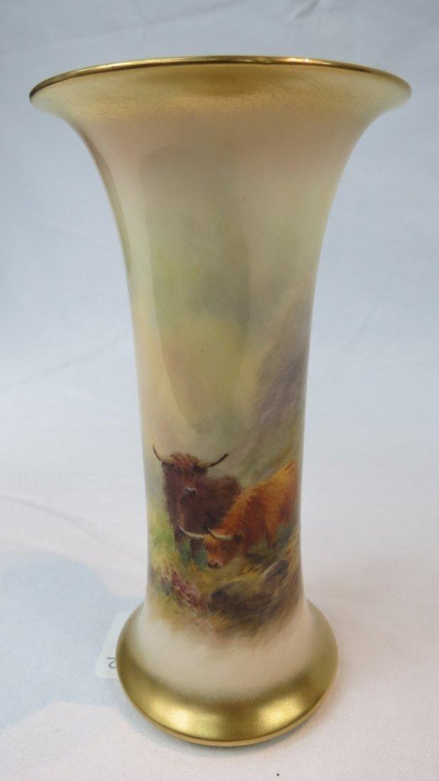 A Royal Worcester trumpet shaped vase de