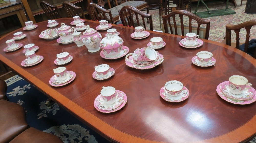 A large and ornate 19thC tea service for