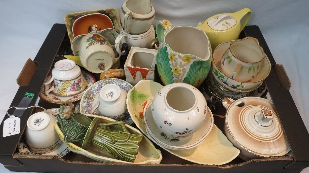 A quantity of crockery including Crown D