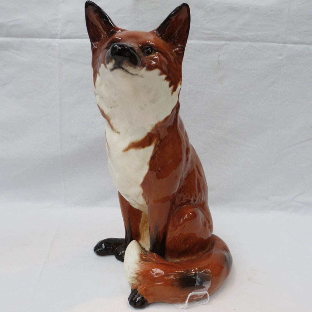 A very large Beswick fireside fox, model