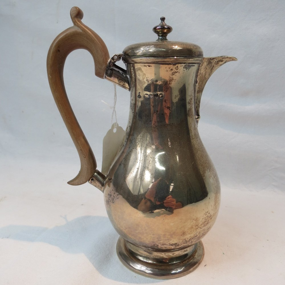 A Victorian hall marked silver hot water