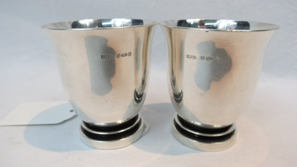 A pair of Georg Jensen egg-cups, import