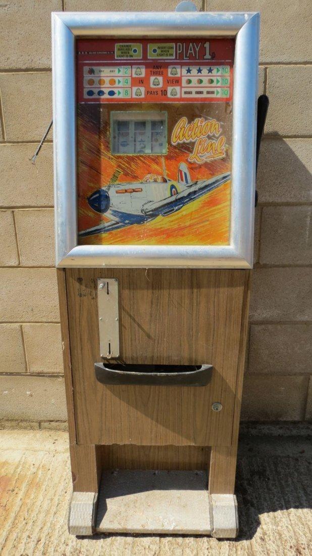 A vintage one armed bandit slot machine