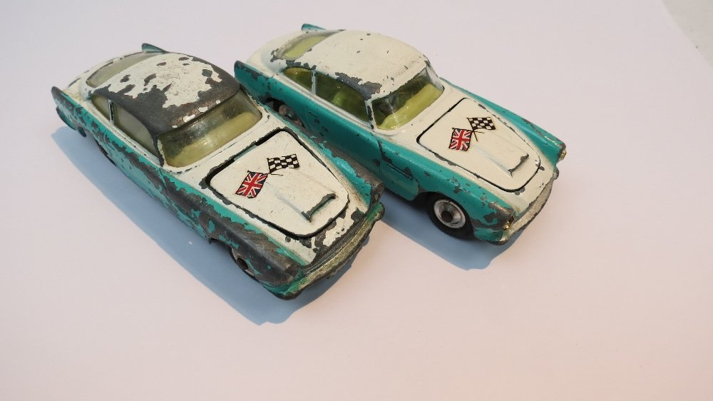 A Corgi Aston Martin DB4, turquoise and
