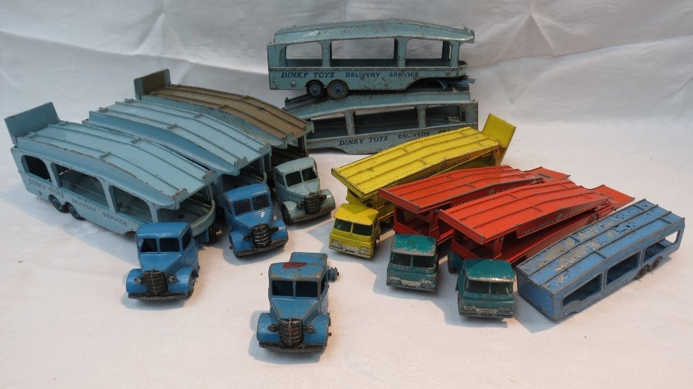 A Dinky Supertoys Pullmore car transport
