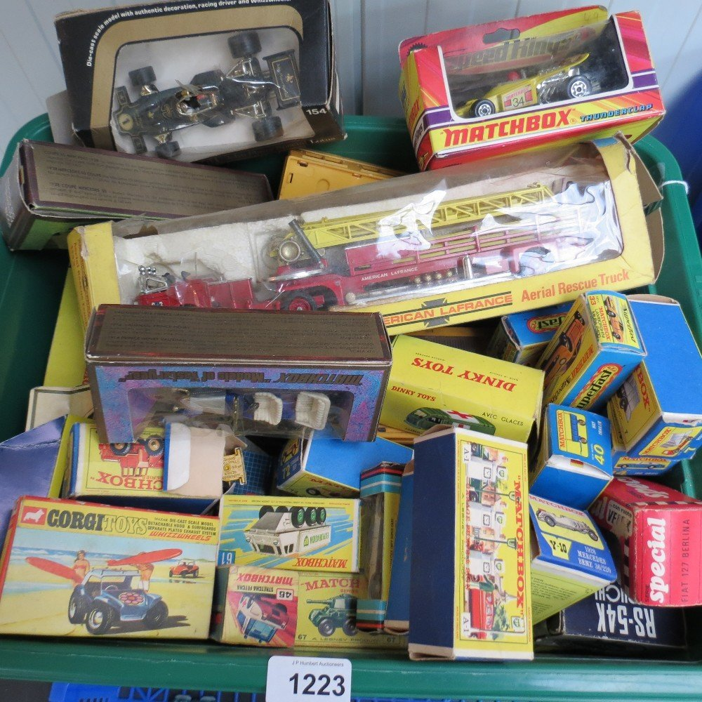 A quantity of boxed toy cars and lorries
