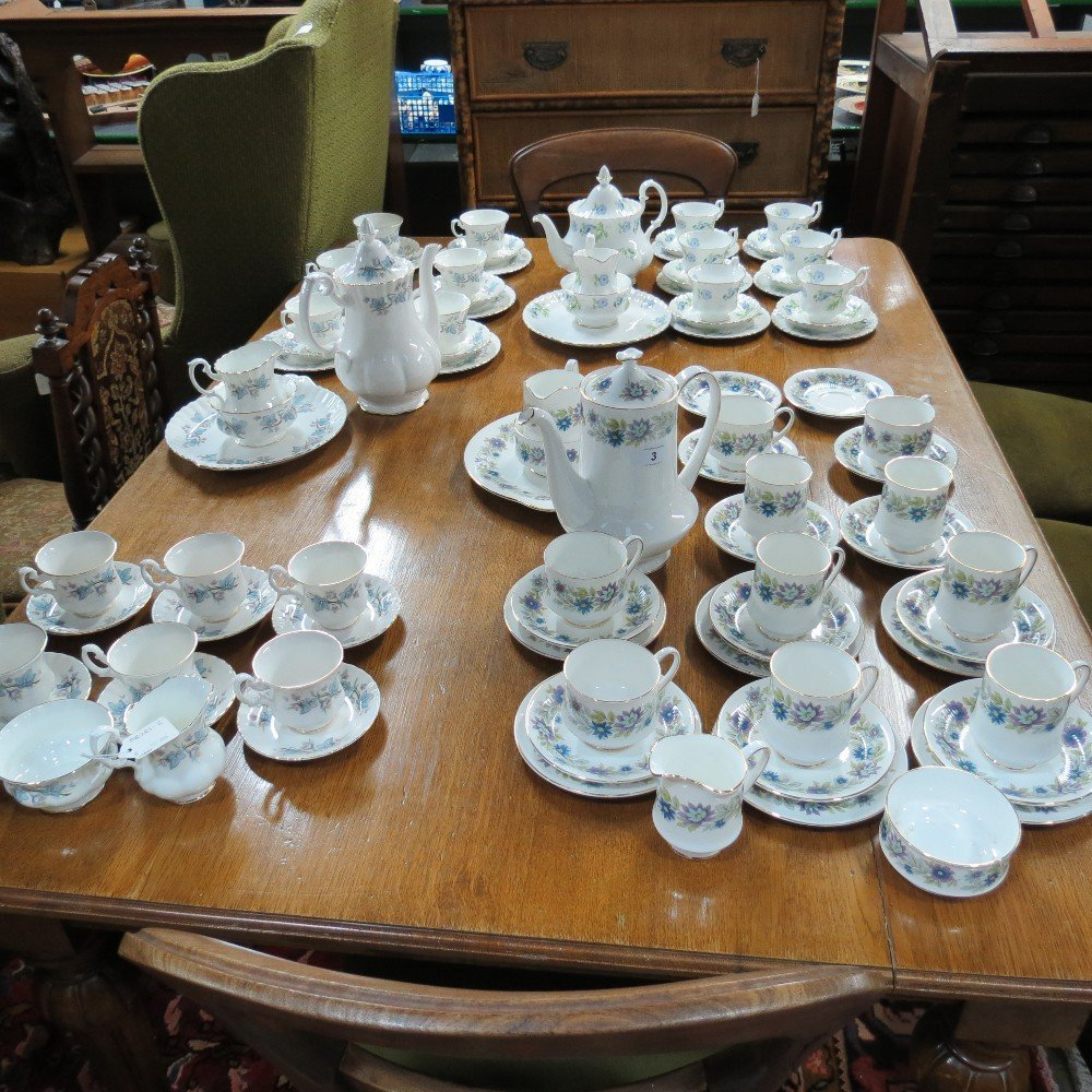 A late 20thC Royal Kent part coffee service, Trentside