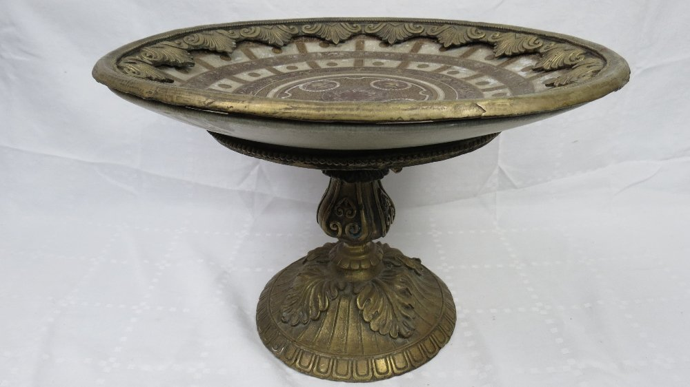 A large contemporary crackle-glazed and gilt metal