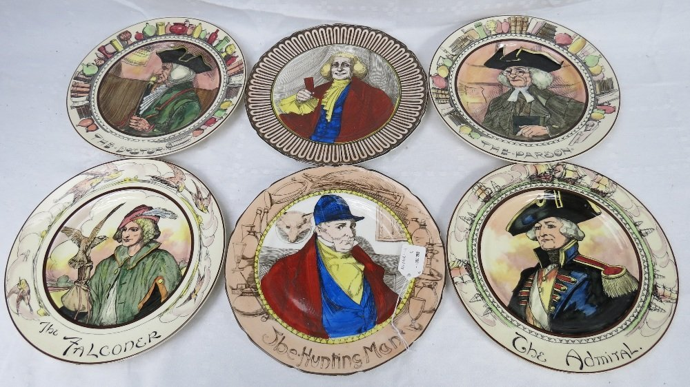 A set of Royal Doulton plates depicting 'The Hunting